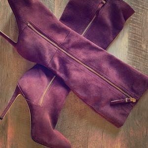 "Michael Kors ""suede heeled boots"""